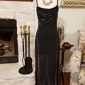 NIGHT WAY COLLECTIONS METALLIC GOWN SIZE 10